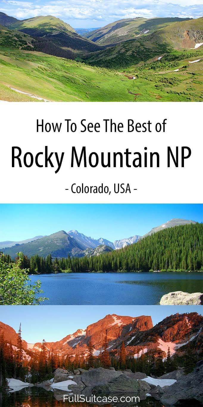 Rocky Mountain itinerary suggestions from one to five days