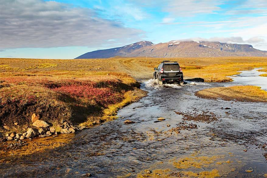 September is a good month to travel in the highlands of Iceland