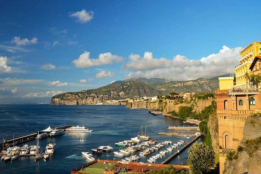 Sorrento is a great place to stay for exploring the Amalfi Coast in Italy