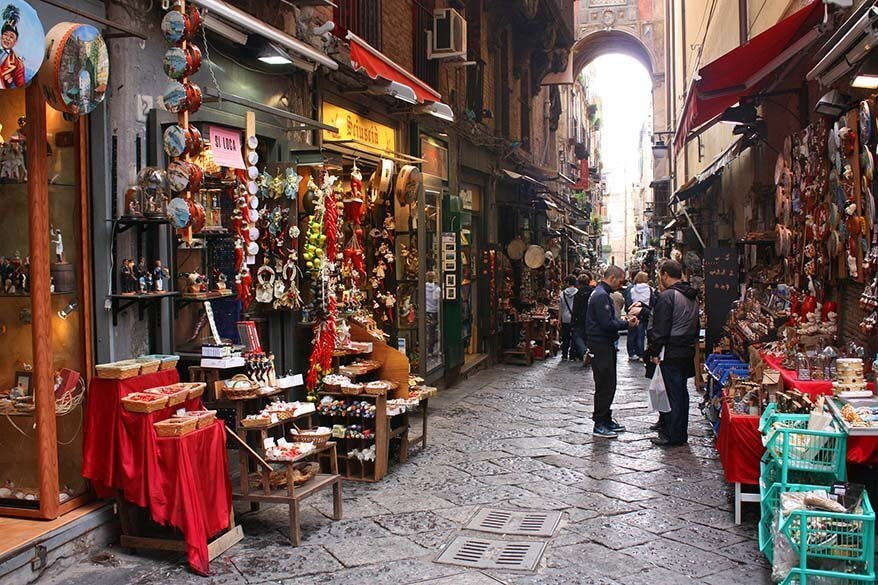 Spaccanapoli street in Naples Italy
