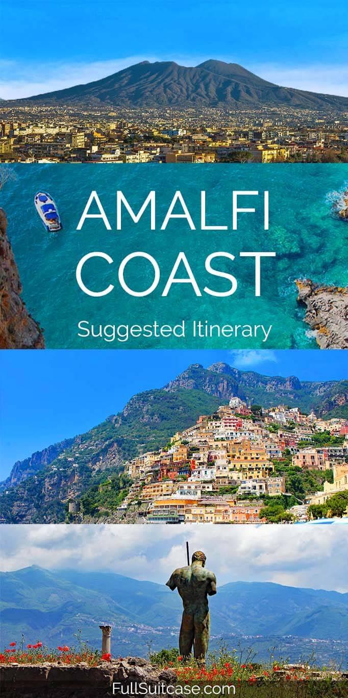 Suggested 5 day Amalfi Coast itinerary