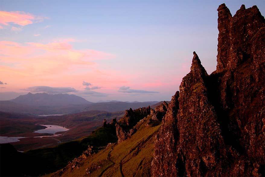 Sunrise at Old Man of Storr - Isle of Skye in Scotland