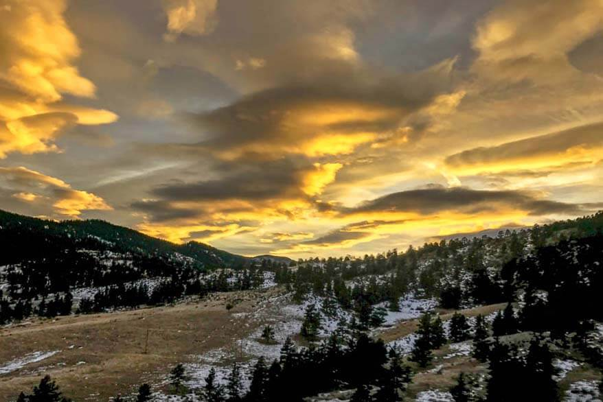 Sunrise on Trail Ridge Road in RMNP Colorado