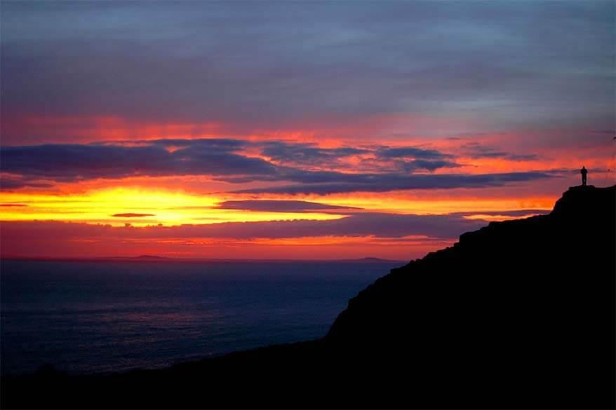 Sunset at Neist Point on the Isle of Skye (Scotland)