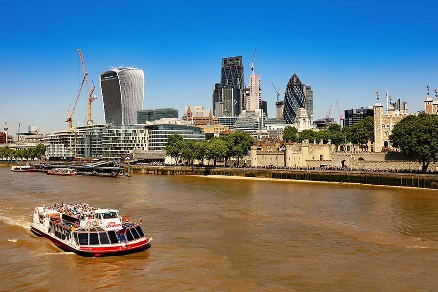 Thames river cruise is a great way to see London
