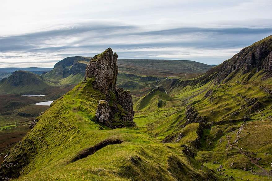 The Quiraing trail is a must in any Isle of Skye itinerary