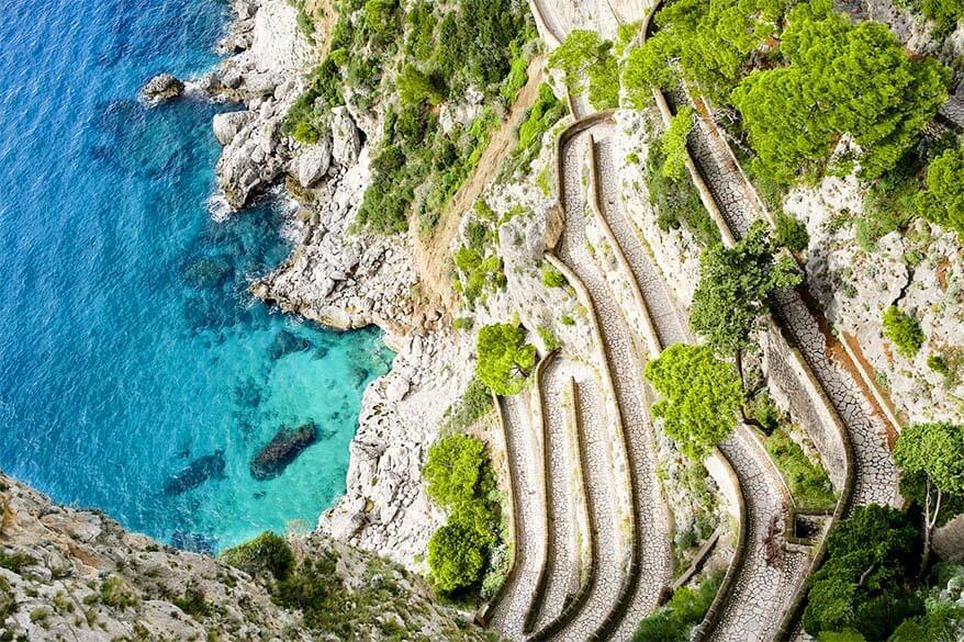 Via Krupp in Capri Italy