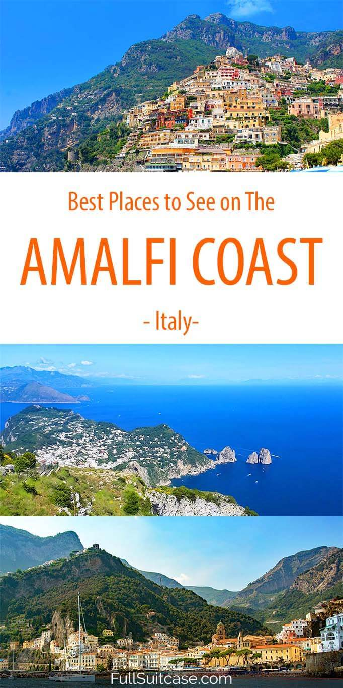 What to see on the Amalfi Coast in Italy and suggested 5 day itinerary that brings you to all the best places