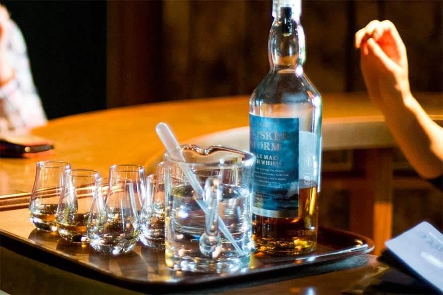 Whisky tasting at Talisker whisky distillery in Skye