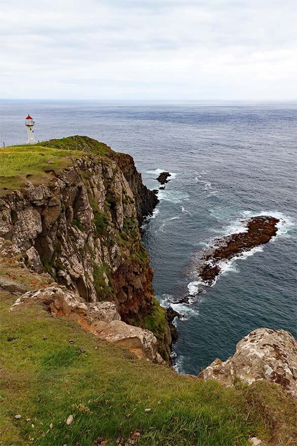 Akraberg Lighthouse - the southernmost point of the Faroe Islands