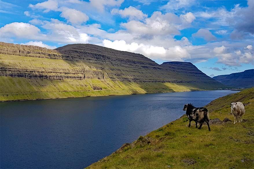 Bordoy - one of the northern islands of the Faroe Islands that can be reached by car