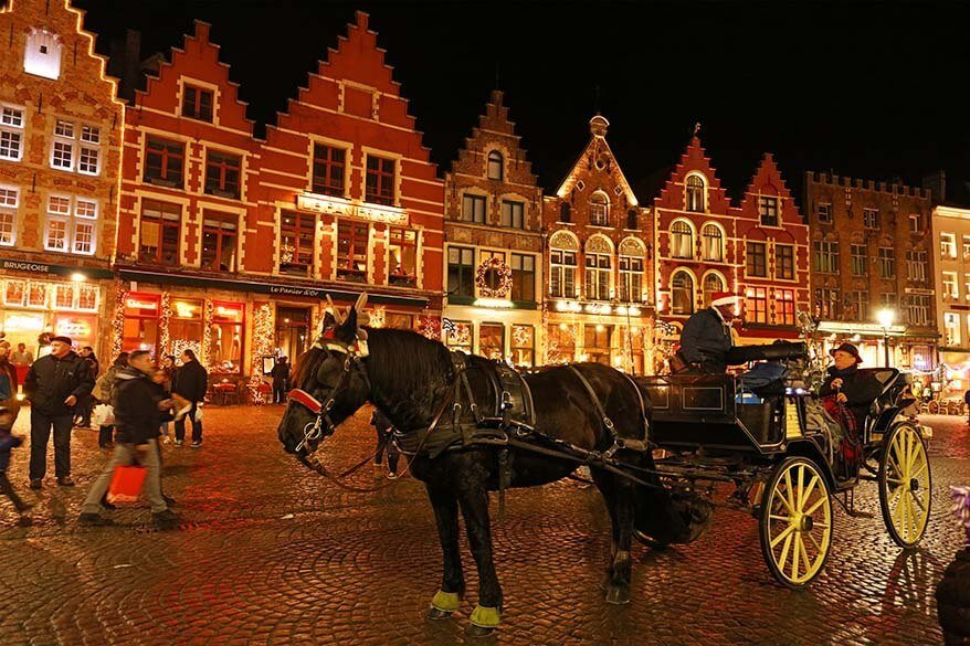 Bruges Christmas Market - perfect for a romantic weekend getaway in Europe