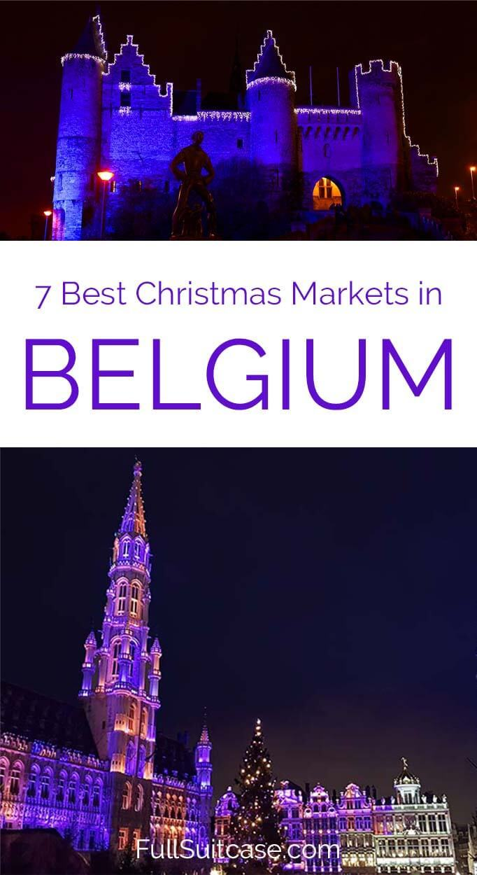 Brussels Christmas market is just one of the many amazing Xmas markets you should visit in Belgium