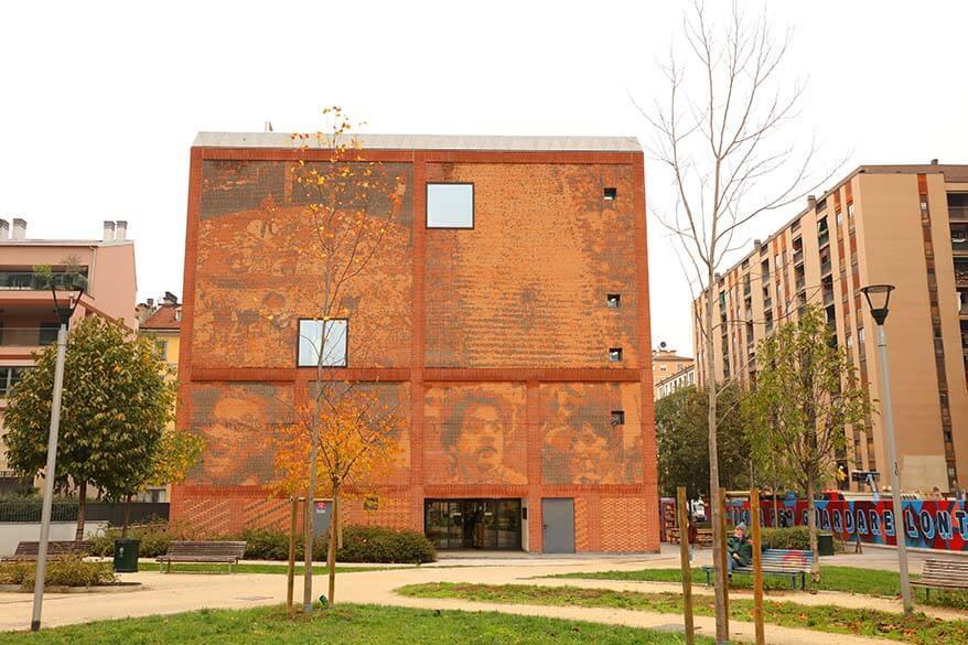 Casa Della Memoria cultural centre near Bosco Verticale in Milan