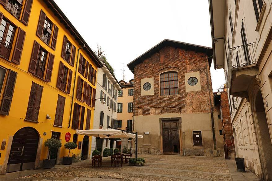 Charming Brera district is one of the nicest areas of central Milan