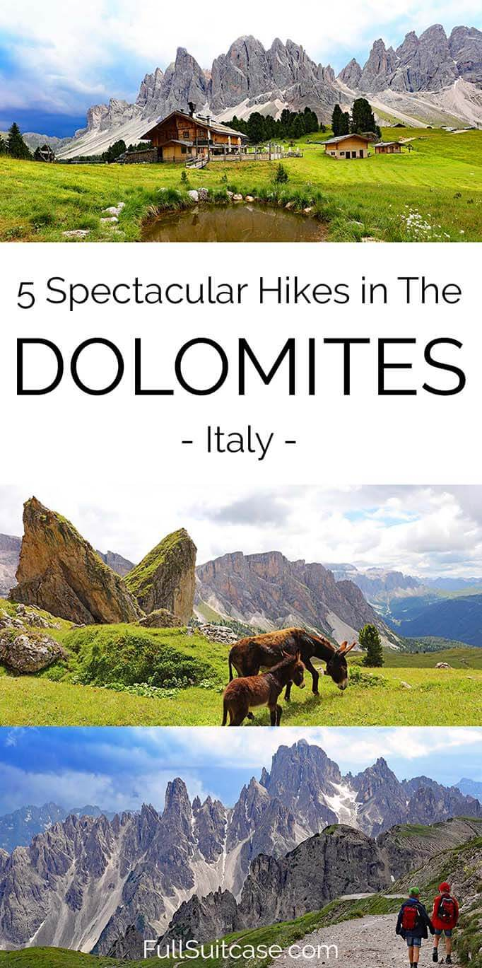 Dolomites hiking guide featuring 5 best hikes as well as practical tips and advice