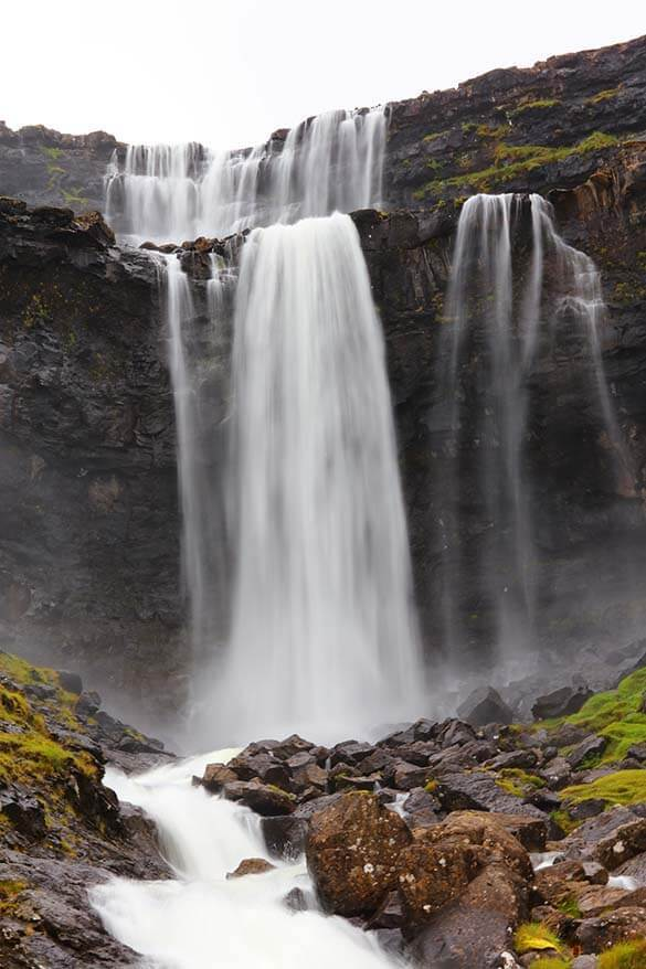 Fossa - the highest waterfall of the Faroe Islands