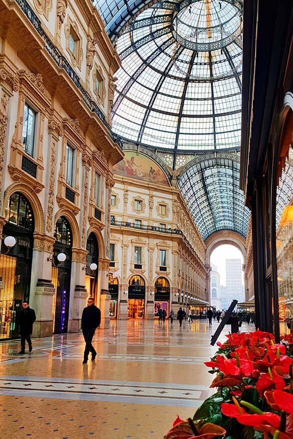 Galleria Vittorio Emanuele II is one of the best things to see in Milan