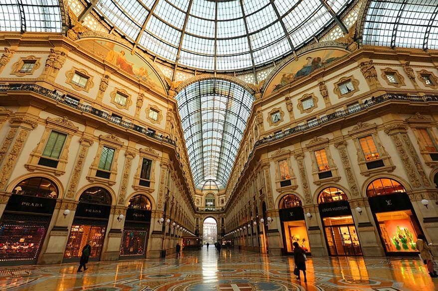 Galleria Vittorio Emanuele II is one of the main landmarks of Milan Italy