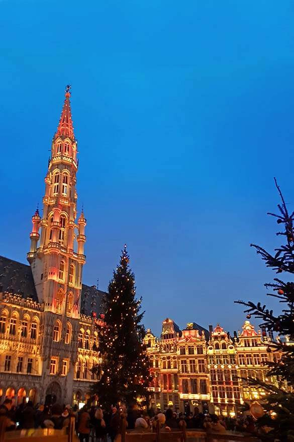 Grand Place music and light show in Brussels Belgium