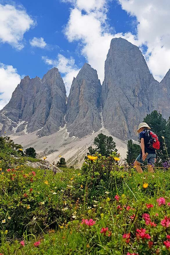 Hiking Adolf Munkel trail - one of the best easy hikes in the Dolomites