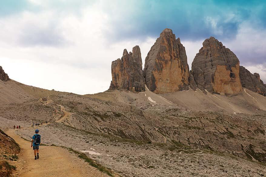 Hiking the Tre Cime di Lavaredo loop in Italian Dolomites