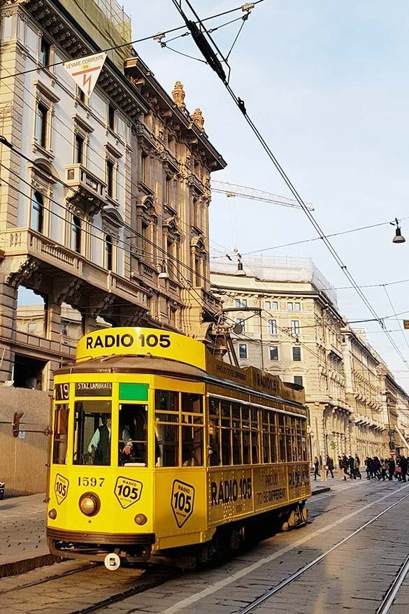Historic tram in Milan