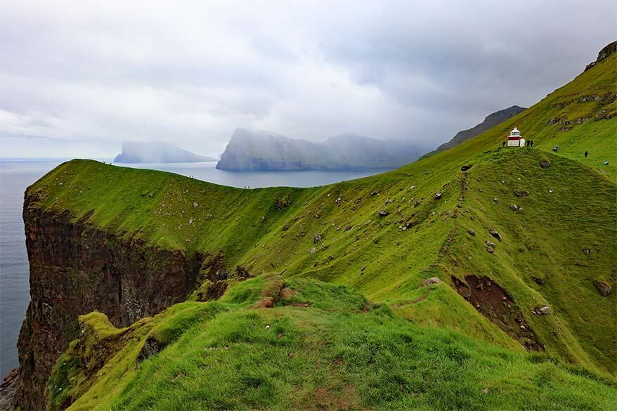 Kallur lighthouse on the Kalsoy Island is one of the most beautiful places of the Faroe Islands