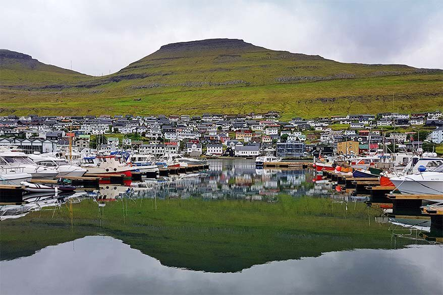 Klaksvik - the biggest town of Northern Faroe Islands
