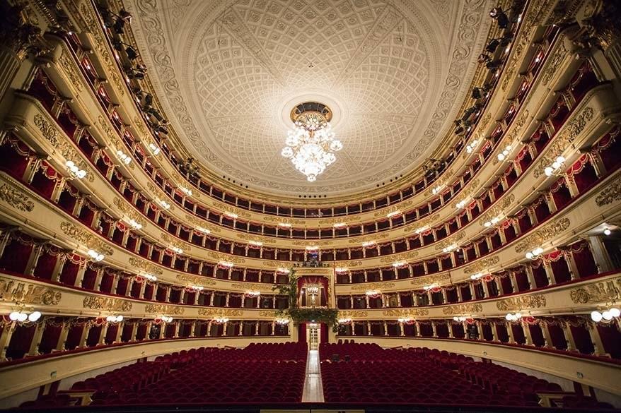 La Scala Opera theatre interior - Milan Italy