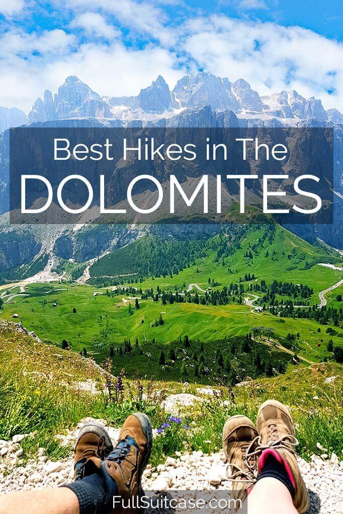 Most beautiful shorter hikes in Italian Dolomites