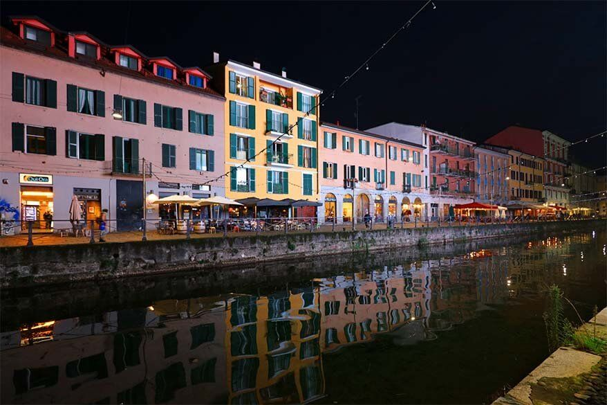 Navigli district - Milan canals