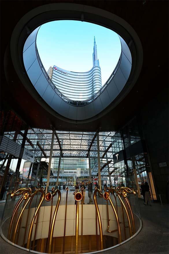 Piazza Gae Aulenti in Porta Nuova district in Milan