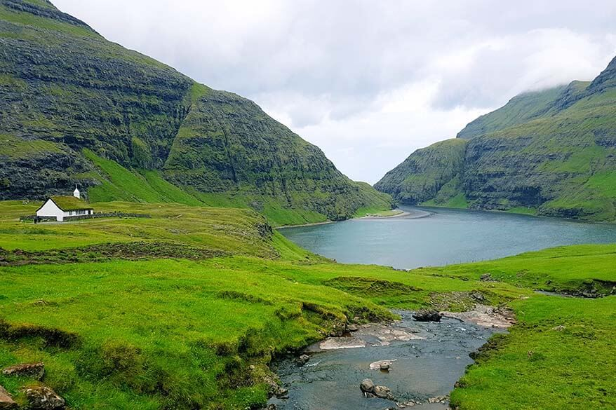 Picturesque Saksun village is one of must see places on the Faroe Islands