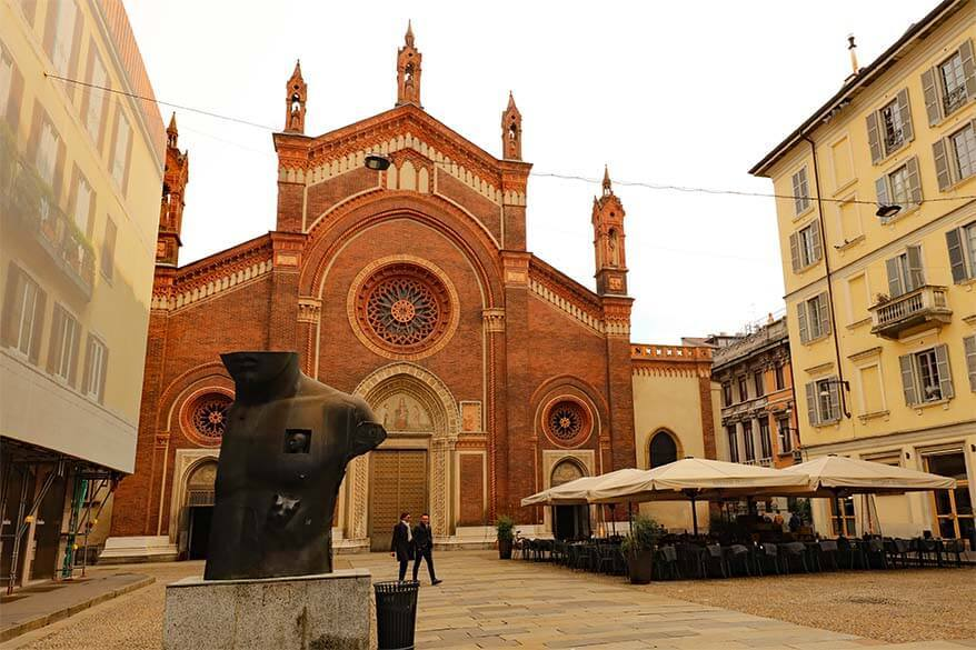 Santa Maria del Carmine Church in Milan