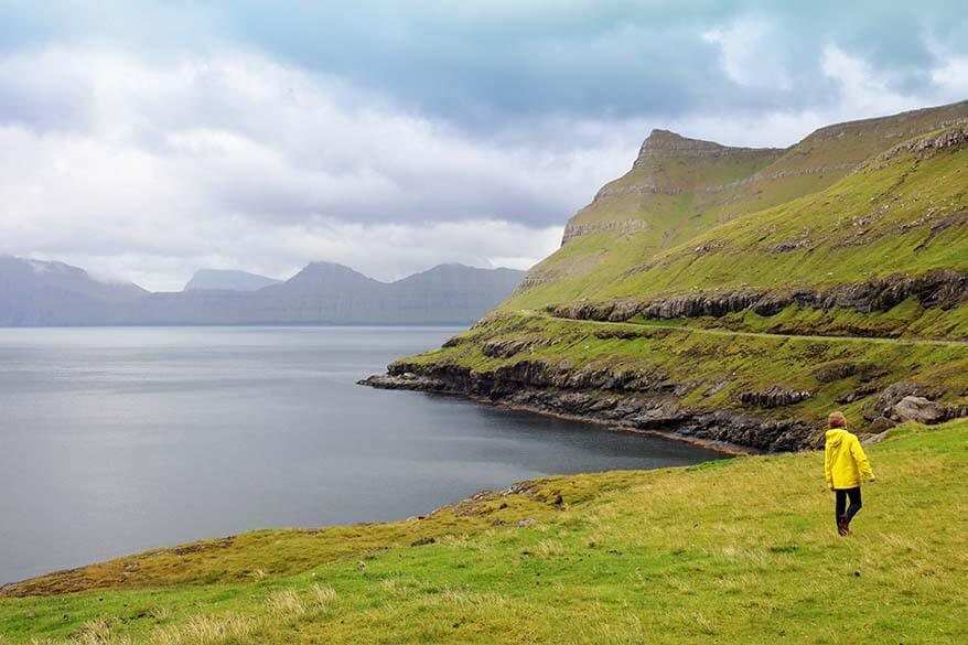 Scenic road near Elduvik on Eysturoy - Faroe Islands