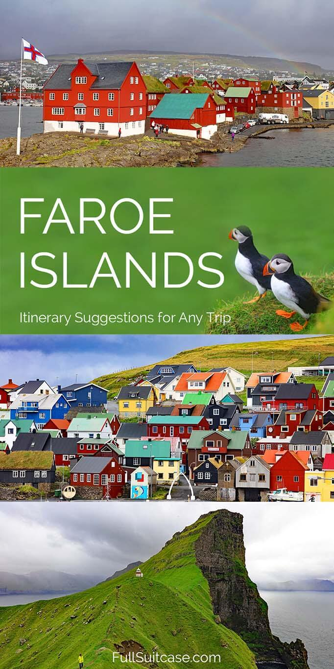 Suggested itinerary for Faroe Islands - any duration from 3 to 9 days