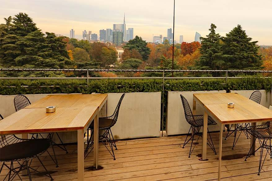 Triennale Design Cafe in Milan offers lunch with the view
