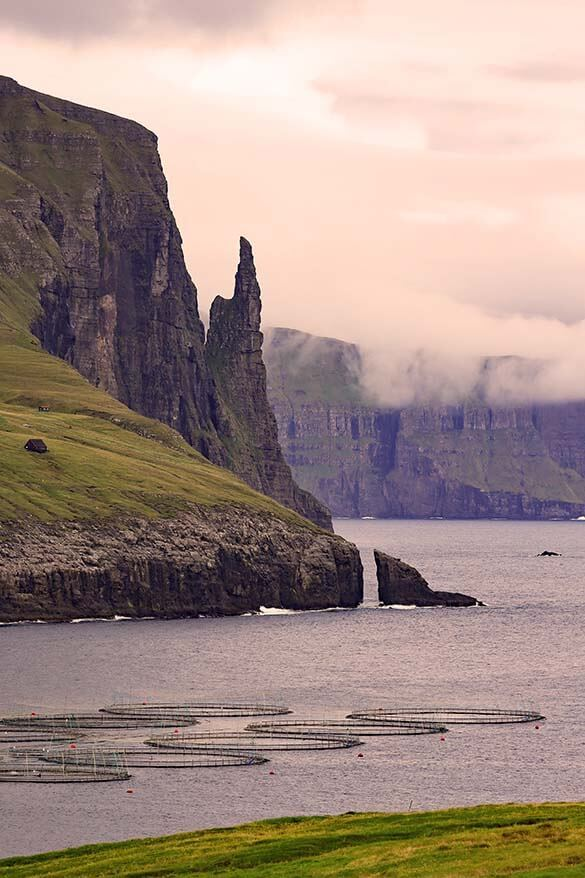 Trollkonufingur - Troll finger on Vagar island is not to be missed when traveling in the Faroe Islands
