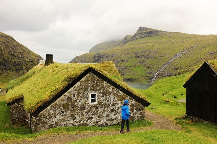 Turf houses of Saksun village on the Faroe Islands
