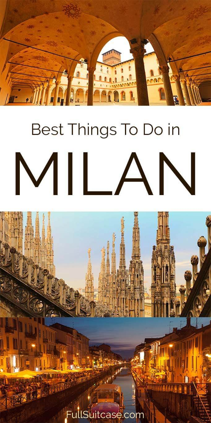What to see in Milan in one day - itinerary and map