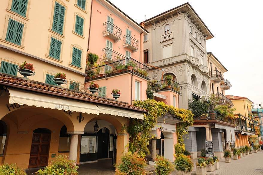 Charming old buildings in Bellagio, Lake Como