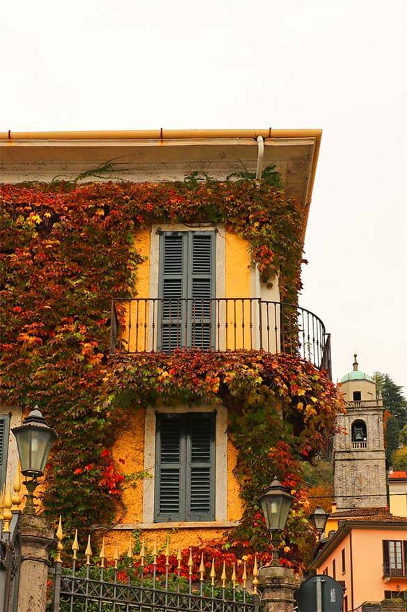 Colorful buildings of Bellagio Italy