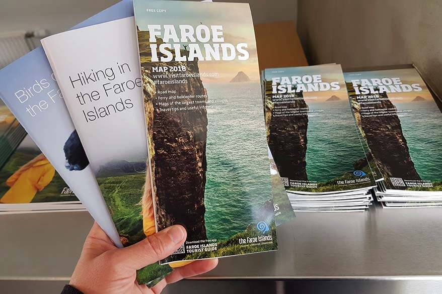 Faroe Islands travel brochures and maps at the visitor's information centre