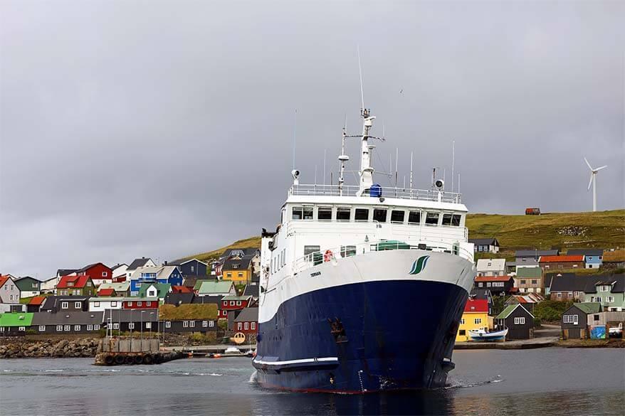 Ferry between Torshavn and Nolsoy on the Faroe Islands
