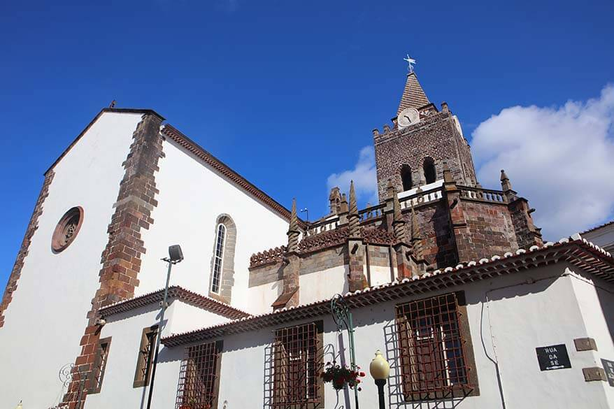Funchal cathedral is one of the main landmarks you have to see in Funchal Madeira