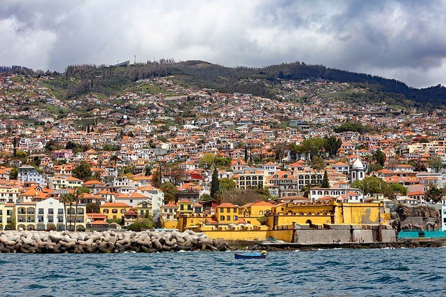 Funchal city as seen from the water- Madeira, Portugal