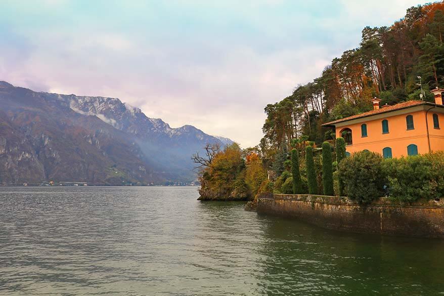 Punta Spartivento in Bellagio Lake Como in Italy