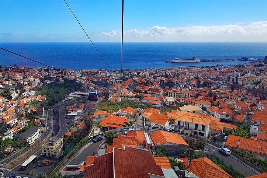 Stunning view from Monte Cable Car in Funchal, Madeira