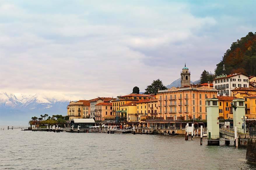 View over Bellagio Lake Como in Italy